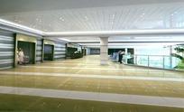 大型医院大厅装饰效果图3D模型下载
