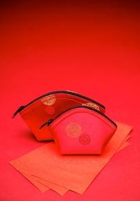 古典红钱包图片