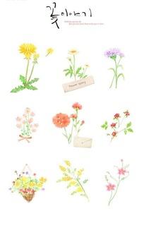 韩国手绘彩色花卉合集