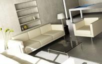 简单的客厅布置设计效果图
