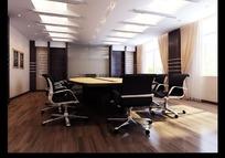 简约中式小会议室3dmax模型