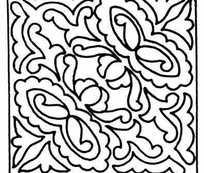 矩形对角对称单色线条画007