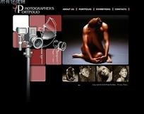 人体摄影师相册集网页模板