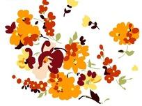 手绘各类彩色小花朵插画文件