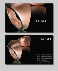 珠宝企业名片设计psd素材