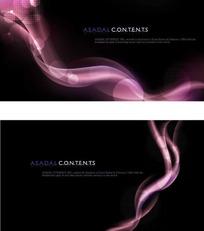 紫色动感光影卡片模板PSD分层素材