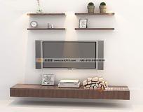 层板电视墙造型模型图片