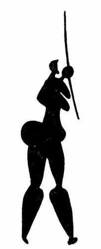黑白古埃及人物拓印图片