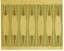 简单几何形构成的黄绿褐连续纹样