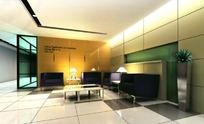 接待厅室3D室内模型图片