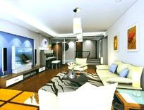 客厅3dmax室内设计