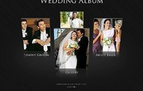 欧美婚纱相册网站网页模板