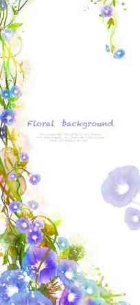 手绘彩色花朵花瓣创意插画设计文件