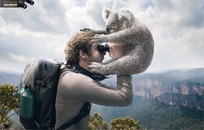 望远镜创意广告素材图片