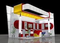 银灰色背景产品展示厅效果图3D模型下载