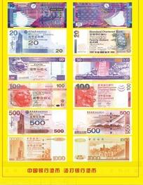 中国银行港币 渣打银行港币 货币图案PSD素材