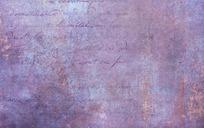 紫色手写文字纹理背景