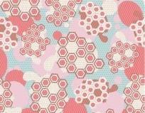蜂巢形状几何图案