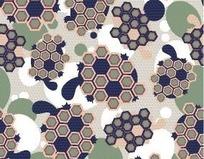 蜂巢形状图案