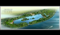 海滨公园布局规划鸟瞰图