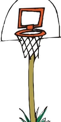 篮球架和篮球框