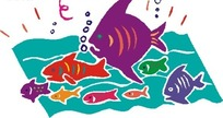 手绘海中各种各样的鱼