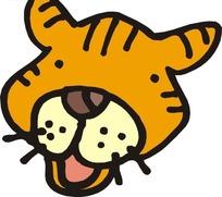 手绘一只可爱的老虎头像