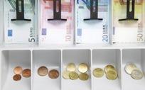 收款机中的各种面额欧元