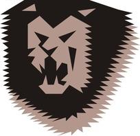 手绘非洲雄狮头像图案
