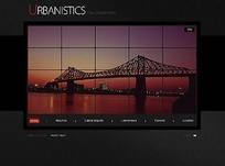城市景观网页模板