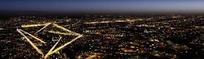 城市万家灯火中的万科标志