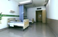 简洁优雅VIP病房效果图