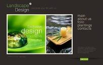 欧美景观设计网页模板