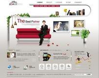 现代简洁韩国psd分层企业商务网站模板