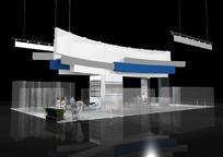 3D商业简洁展厅设计效果图