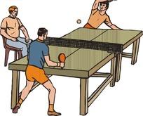 兵乓球比赛卡通画