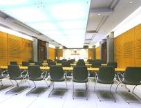 长方形大型会议室设计模拟图