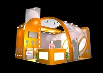 橙色创意商业展厅设计