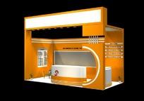 橙色创意展厅设计效果图