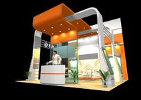 创意橙色商业展厅设计