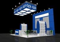 创意绚丽蓝色商业展厅设计