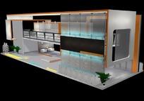 大型3D商业展厅设计效果图