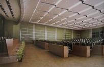 大型会议室3d效果图