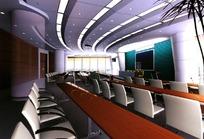 大型会议室设计模拟图