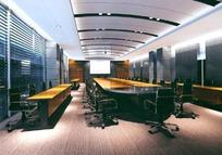 大型会议室效果图(侧面)