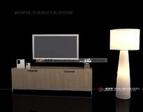 电视柜及台灯max效果图源文件