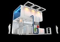 阁楼式展厅效果图3D模板素材