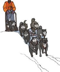狗拉雪橇卡通画