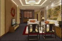 古典优雅客厅装饰设计效果图