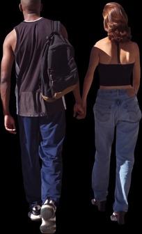 一对情侣小挂件 夫妻海滩漫步 风雪行人 国外情侣牵手背影 情侣牵手购图片